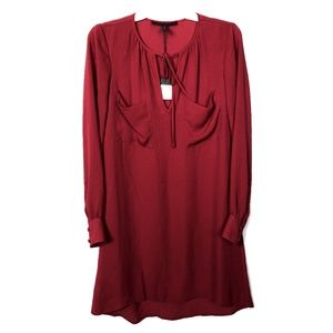 BCBGMaxAzria Long Sleeve Shift Dress